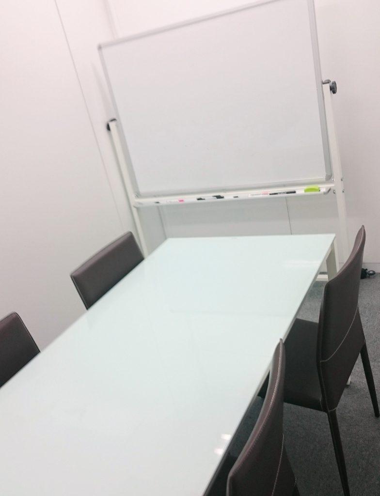 横浜駅前の貸会議室、応接室の画像です
